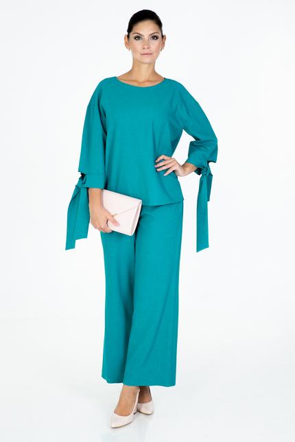 Turquoise Linen suit