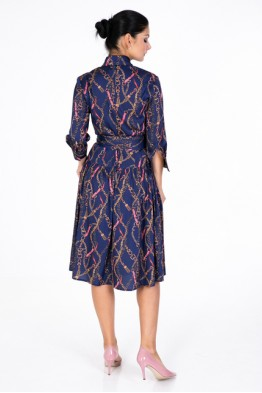Dress with Chains Print