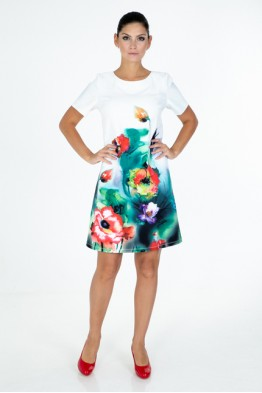 Dress with poppies